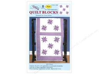 "Jack Dempsey Stamped Quilt Blocks: Jack Dempsey Quilt Blocks 18"" 6pc Cross Stitch Stars"