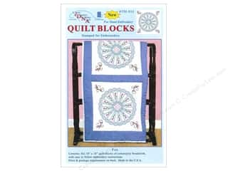 "Stamped Goods $6 - $8: Jack Dempsey Quilt Block 18"" 6pc White Fan"