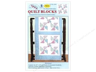 "Jack Dempsey Quilt Blocks 18"" 6pc Pinwheel"