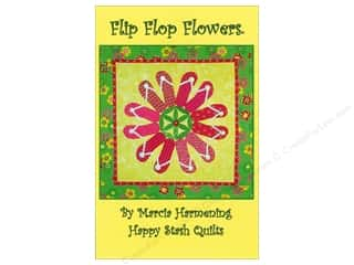 Clearance K&Co Mat Pad 4.75x6.75: Happy Stash Quilts Flip Flop Flowers Pattern