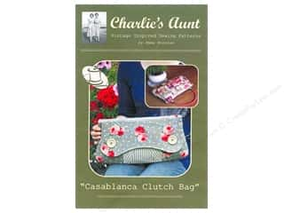 Books & Patterns $9 - $15: Charlie's Aunt Casablanca Clutch Bag Pattern 16 x  9 in.