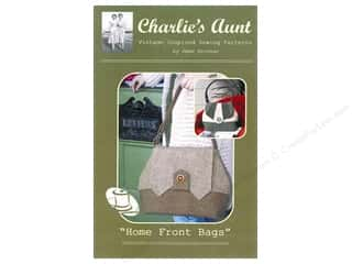 Purse Making $10 - $238: Charlie's Aunt Home Front Bags Pattern 14 x 10 x 5 in.