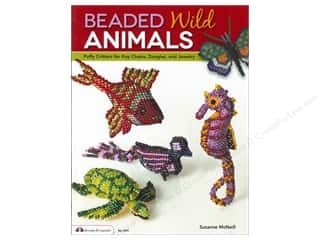 Animals: Design Originals Beaded Wild Animals Book