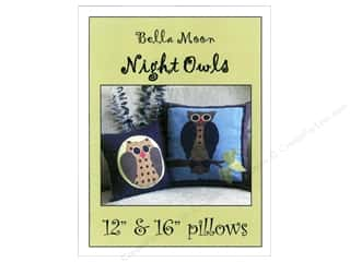 Bareroots Home Decor Patterns: Bella Moon Night Owls Pillow Pattern