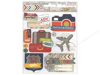 Simple Stories Stickers: Simple Stories Sticker Urban Traveler Layered