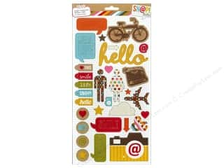 Transportation Framing: Simple Stories Sticker Snap Hello Chipboard