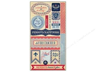 Authentique Americana: Authentique Stickers 6 x 12 in. Pride Components (18 sets)