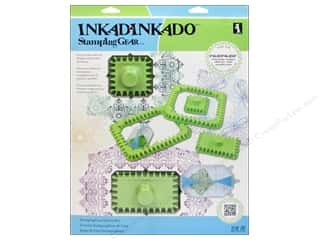 weekly specials Inkadinkado Stamping Gear Stamp: Inkadinkado Stamping Gear Set Deluxe Square/Rectangle