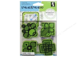 Inkadinkado Stamping Gear Rubber Stamp Modern Shapes