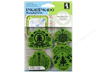 Rubber Stamping Stamps: Inkadinkado InkadinkaClings Stamping Gear Rubber Stamp Folk Winter