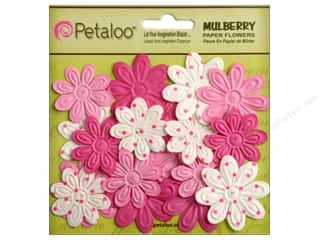 Petaloo Mulberry Daisy Mini Embossed 24pc Fuchsia