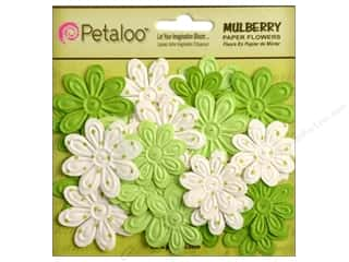 Petaloo Mulberry Daisy Mini Embossed 24pc Chartreuse