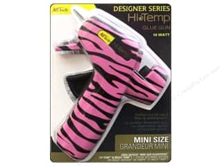 glue gun: Ad Tech Low Temp Glue Gun Mini Zebra Pink