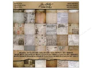 "Tim Holtz paper dimensions: Tim Holtz Idea-ology Paper Stash 12""x 12"" French Industrial"