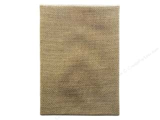 "Tim Holtz Brown: Tim Holtz District Market Burlap Panel 6""x 8"" Bare"
