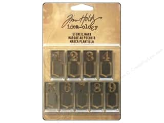 Finishes ABC & 123: Tim Holtz Idea-ology Stencil Mark