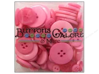 Buttons: Buttons Galore Button Totes 3.5 oz. Bright Pink