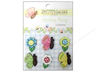 Buttons Galore Button Spring Fling Bflies&Daisies