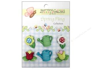 Clearance Blumenthal Favorite Findings: Buttons Galore Button Spring Fling Garden Treasure