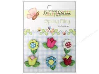 Sew-on Buttons: Buttons Galore Button Spring Fling Spring Flowers