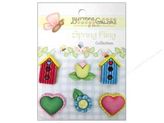 Tulip 1 7/8 in: Buttons Galore Button Spring Fling Signs Of Spring