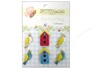 Spring Cleaning Sale Blue Feather BobbinSavers: Buttons Galore Button Spring Fling Birds Of A Feather
