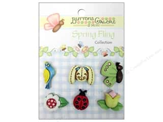 Clearance Blumenthal Favorite Findings: Buttons Galore Button Spring Fling Spring Garden