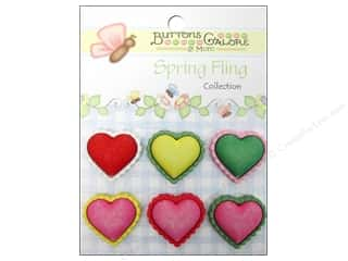 Novelty Buttons: Buttons Galore Button Spring Fling Hearts
