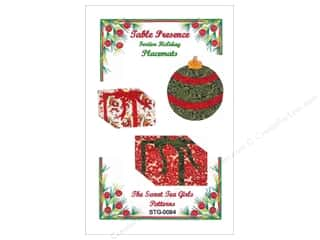 Common Thread Designs Table Runner & Kitchen Linens Patterns: Sweet Tea Girls Table Presence Festive Holiday Placemats Pattern