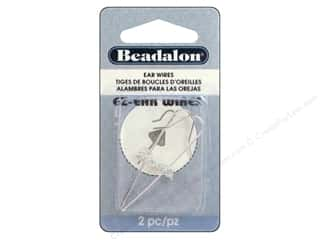 Beadalon Ear Wires Easy 9.3mm Silver Plated 2pc