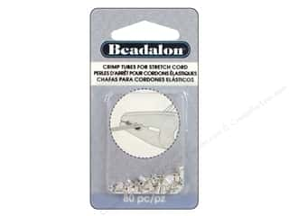 Beadalon Crimp Tubes for Stretch Cord 0.5 mm Silver Plated 80 pc.
