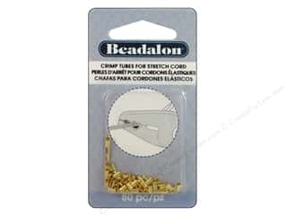 Beadalon Crimp Stretch Cord 0.8mm Gold Color 80pc