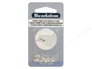 Beadalon Crimp Tubes for Stretch Cord 0.8 mm Silver Plated 80 pc.