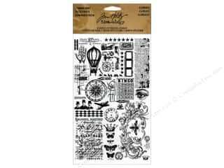 Scrappin' Sports Acid Free Rub-On Transfers: Tim Holtz Idea-ology Remnant Rubs Elements 2pc