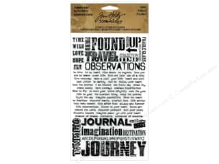 Tim Holtz Idea-ology Remnant Rubs Words 2pc