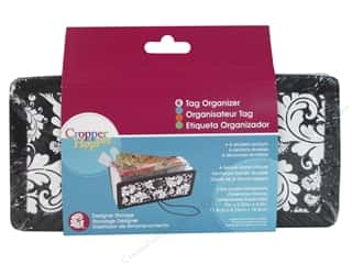 Organizers Clearance Crafts: Cropper Hopper Supply Storage Projections Tag Organizer Black White