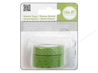 Papers $10 - $15: We R Memory Washi Tape 10mm & 15mm Assorted Avocado