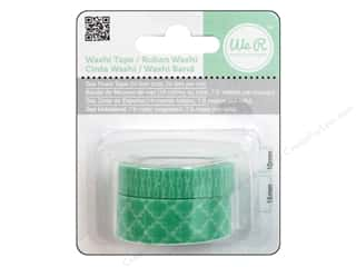 We R Memory Washi Tape 10mm &amp; 15mm Assorted Sea Foam