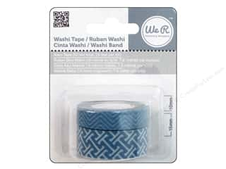 We R Memory Washi Tape 10mm &amp; 15mm Assorted Navy