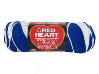 fingering yarn: Red Heart Team Spirit Yarn #0947 Royal/White
