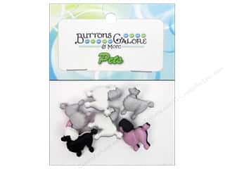 Buttons Galore & More Animals: Buttons Galore Theme Buttons Poodles