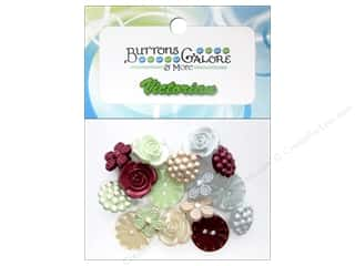 Flowers Buttons: Buttons Galore Theme Buttons Heirloom Keepsakes