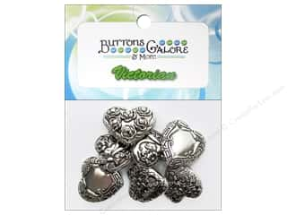 Buttons Galore Theme Buttons Silver Hearts