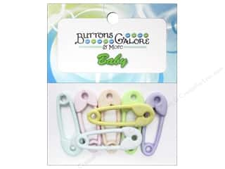 Buttons Galore Theme Baby Diaper Pins