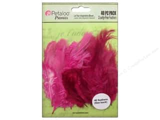 Petaloo Feathers Pink Fuchsia 40 pc.