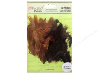 feather interfacing: Petaloo Expressions Collection Feathers Chocolate Camel 40 pc.