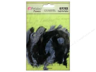 Petaloo Expressions Collection Feathers Black Grey 40 pc.