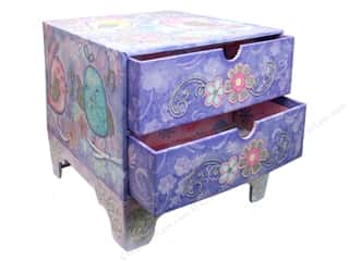 Punch Studio Organizer Chest 2 Drawer Chickadees