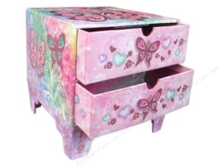 New Years Resolution Sale Organizers: Punch Studio Organizer Chest 2 Drawer Butterfly Rainbow