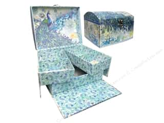 Boxes and Organizers Punch Studio Boxes Organizer: Punch Studio Boxes Organizer Organizer Case Paisley Peacock